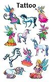 Avery Zweckform 56390 Kinder Tattoos Elfen (temporäre Transferfolie, dermatologisch getestet) 11 Aufkleber