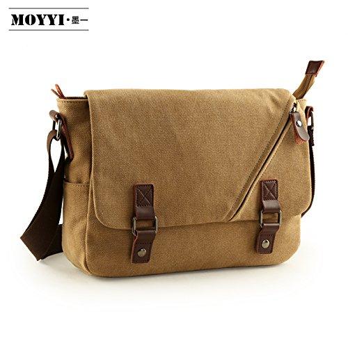 Zbshop Eine Modetasche, Herrentasche, Freizeittasche, Schultertasche, Outdoor-Freizeittasche, Studentenrucksack, Männer schräger Rucksack, Khaki