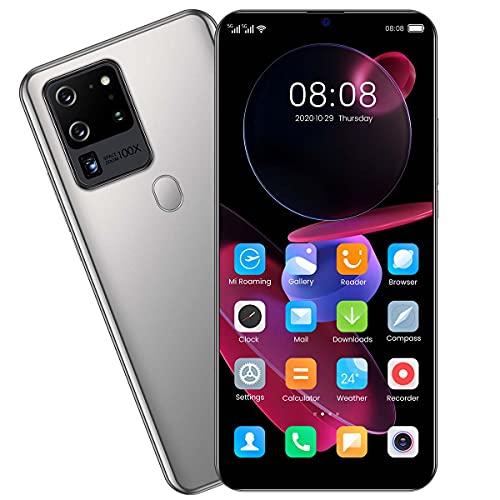 Android 10 Smartphone Libres, Teléfono Móvil 3GB + 32GB Pantalla Waterdrop HD+ 7.1 '', 32MP+48MP Movil Barato Batería 5600mAh Dual SIM 5G Face ID/GPS,Plata