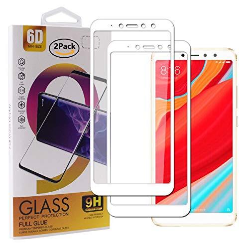 Guran [2 Paquete Protector de Pantalla para Xiaomi Redmi S2 Smartphone Cobertura Completa Protección 9H Dureza Alta Definicion Vidrio Templado Película - Blanco