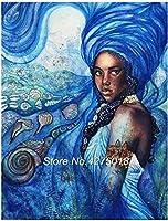 DIY 5Dダイヤモンドペインティングフルダイヤモンドクロスステッチディスプレイアフリカの女性モザイクキットラインストーン画像刺繍