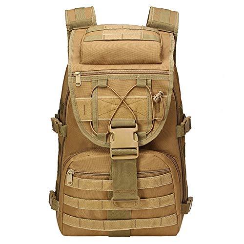LHI Taktischer Militärischer Rucksack 35L Outdoor Rucksäck für Herren Damen, Wanderrucksack Schultasche Daypack für Herren Damen, Bräunen