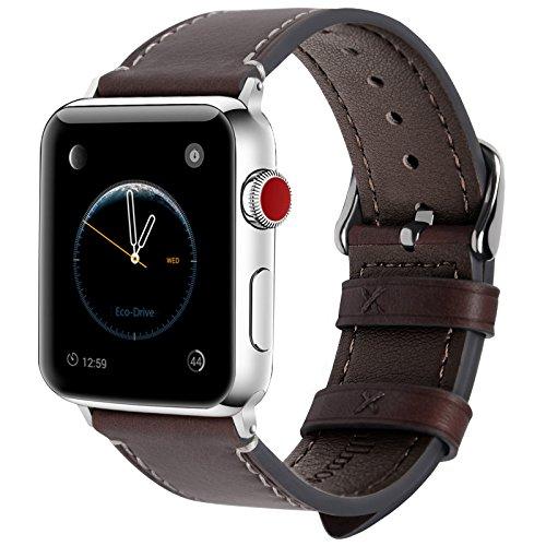 Fullmosa Cinturino per Apple Watch 38mm 40mm e 42mm 44mm, Wax Cinturino in Pelle per iWatch, Compatibile con Apple Watch Serie SE 6 5 4 3 2 1, per Uomo e Donna