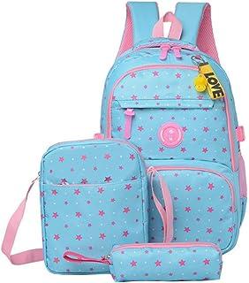 3 قطعة/مجموعات حقيبة الظهر للأطفال، سعة كبيرة حقيبة مدرسية تنفس حقيبة الكمبيوتر لمدة 2-13 سنة، مع حقيبة الغداء قلم رصاص