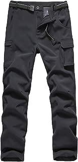 JOMLUN Boys' Softshell Fleece Pants Waterproof Windproof for Outdoor Mountain Ski Hiking Snowboarding Insulated Trousers