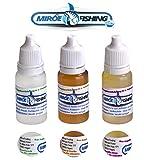 MiRoeFishing - Set di aromi per trote e catcher particolarmente abbronzanti, aglio e profu...