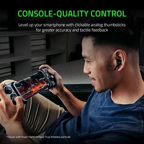 Razer Kishi für Android – Smartphone Gaming Controller (USB-C Anschluss, Ergonomisches Design, Individuelle Passform für Handys, Analog-Stick, Ultra niedrige Latenz) Schwarz - 4