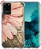 Hungo S20 Ultra Case, Soft TPU Cover Clear Heavy Duty Protection Wireless Charging Compatible with Samsung Galaxy S20 Ultra 5G Christian Sayings Bible Verses Theme Exodus 14:14