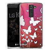 Coque en Silicone Compatible avec LG K8 (2016) Etui Silicone Coque Souple Papillon Ornements...