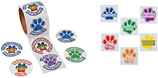 Paw Print Theme Kid's Party Favors (100 stickers & 72 Tattoos)