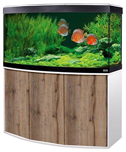 Aquariumkombination Fluval Vicenza 260 mit LED Beleuchtung, Heizer, Filter und Unterschrank weiß-Eiche