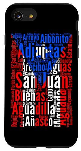 iPhone SE (2020) / 7 / 8 Puerto Rican Cities - Puerto Rico Flag - Boricua Case