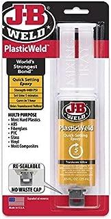 J-B Weld 50132 PlasticWeld Quick-Setting Epoxy Syringe - Dries Off-White - 25 ml (Pack of 3)