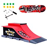 Mini Doigt Jouet Skateboard Skate Park Ramp Kit Ultimate Parks Training Props Finger Skateboard Scène Costume,E