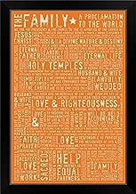 CANVAS ON DEMAND Family Proclamation - Orange Black Framed Art Print, 19