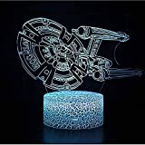 Lampe Illusion optique Star Trek cuirassé 3D lampe LED veilleuse 7...