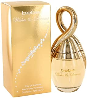 Bebe Wishes & Dreams Eau de Parfum Spray, 3.4 Ounce
