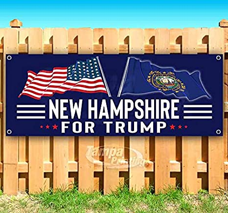 New Hampshire for Trump 13 oz Banner Heavy-Duty Vinyl Single-Sided with Metal Grommets