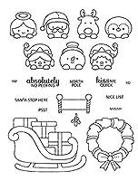 クリスマス動物透明クリアシリコンスタンプ/DIYスクラップブッキング用シール/フォトアルバム装飾用クリアスタンプシートW1814