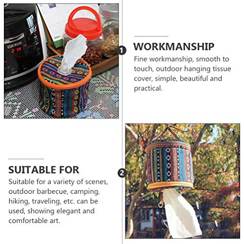 ABOOFAN Outdoor Toilet Paper Storage Holder Tissue Roll Hanging Cover with Hook