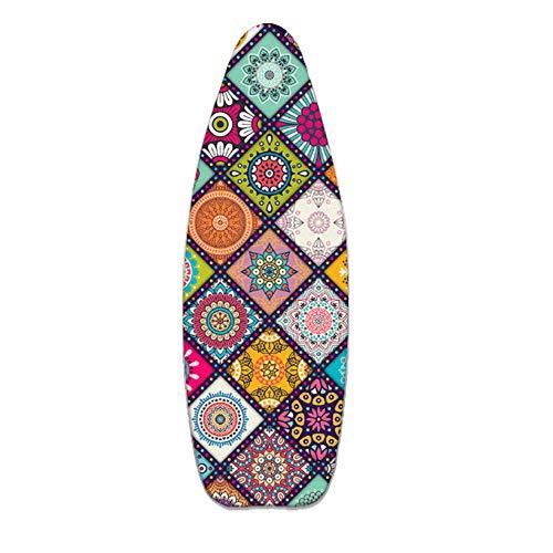 Brabnatia Funda para Tabla de Planchar, 100% algodón, Cubierta Acolchada de la Tabla de Planchar para planchas de Vapor, con 4 Clips, 155x60 cm