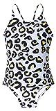 Idgreatim Little Girls Leopard One Piece Bathing Suits Size 5 Adjustable Shoulder Strap Bathingsuits Surfing Bikini Swimwear 5-6 Years