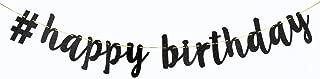INNORU # Happy Birthday Banner Black Glitter Happy 1st 5th 10th 30th Birthday Banner Decorations Supplies
