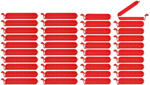 mit Klemme f/ür Lebensmittel und Snackbeutel Kunststoff verschiedene Gr/ö/ßen zum Verschlie/ßen von Beuteln 12 St/ück, Verschlussclips helle Farben