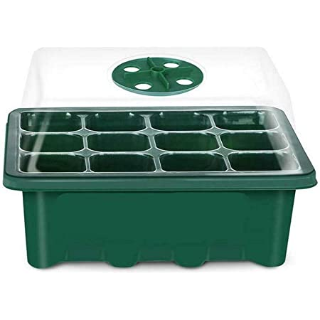 6 cellules par Plateau /étiquettes de Plantes et doutils /à Main kit de Propagation de semis de Mini Serre ANBET Ensemble 3 Plateaux de d/émarrage de semis /Plateaux de Culture et d/ômes ventil/és