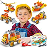 STEM Toy Building Set learning toy for Boys & girls 7-12 Erector set for kids Creative DIY Construction Engineering Kit(5 in 1) Build and Play Vehicle hard plastic box Best gift for age 7 8 9 10 11+