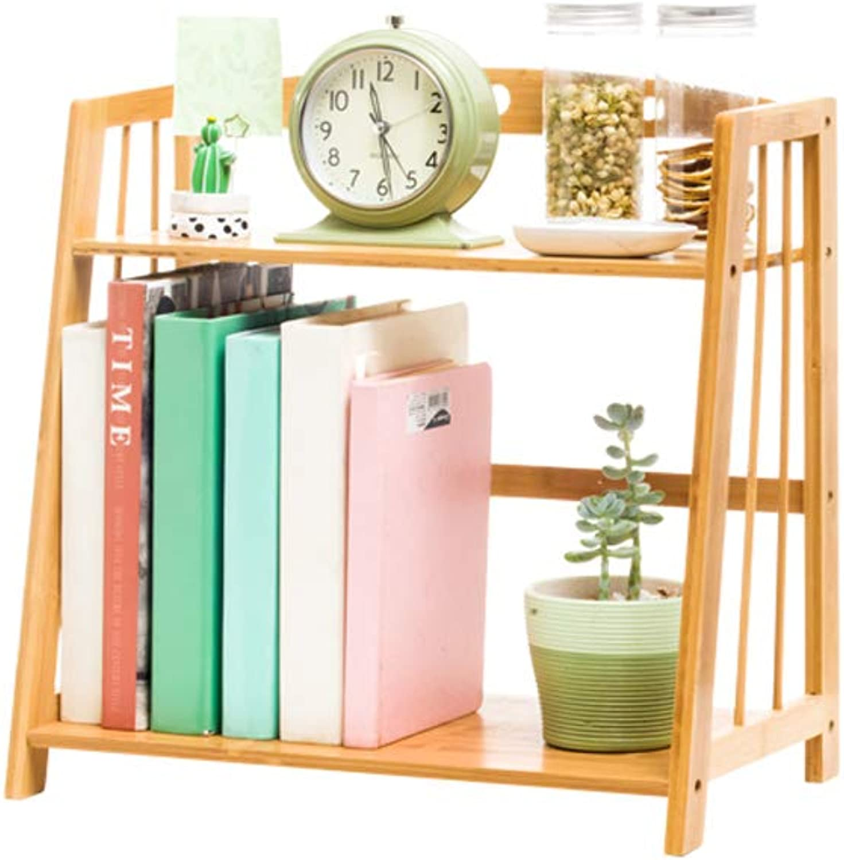 CIGONG-bookshelf Desktop Bookshelf Solid Wood Single-Layer Desk Storage Shelf Student Books Adjustable Bookcase Newspaper Album Display Stand (Size   43x24x42cm)