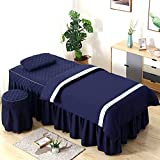 XKun Funda de cama de belleza de gama alta de cuatro piezas simple salón de belleza masaje cama falda 70 x 185 cm