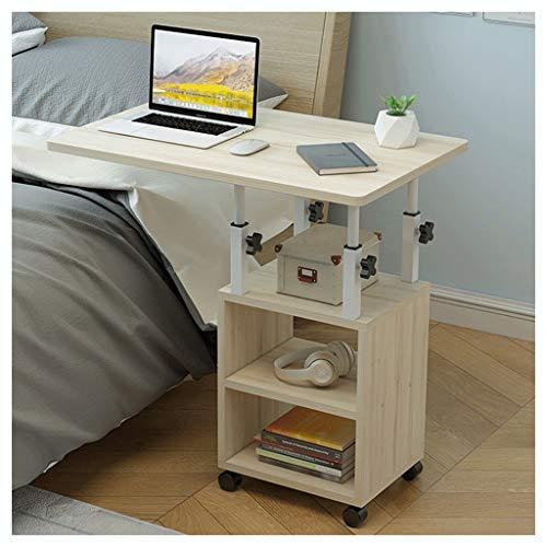 LSRRYD - Mesa auxiliar para ordenador portátil, altura regulable, con ruedas y superficie de almacenamiento para cama y sofá