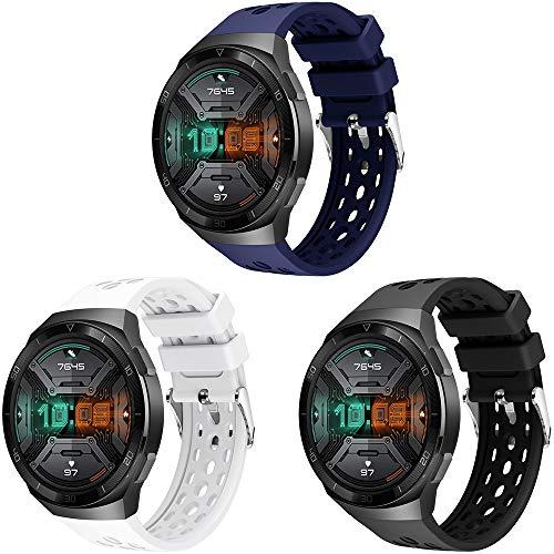 YASPARK Compatible con Huawei Watch GT 2e Correa, Silicona Pulsera Deportiva reemplazo Diseño de Dos Colores Correa para Huawei Watch GT 2e Smartwatch