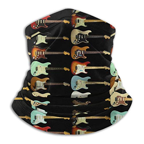 Ewtretr Fender Stratocaster Neck Gaiter Warmer Unisex Windproof Neck Gaiter Tube para...