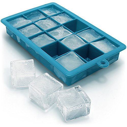 igadgitz Home U6617 Bac à Glaçons en Silicone Alimentaire 15 Cubes - 1 Pack