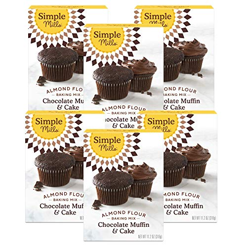 Simple Mills Almond Flour Baking Mix, Gluten Free Chocolate Cake Mix, Muffin pan ready, Made with whole foods, 6 Count (Packaging May Vary)