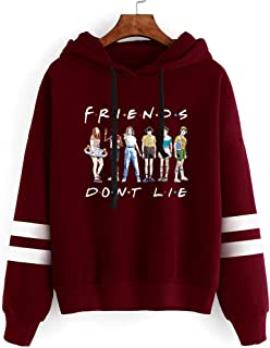 Flyself Girls Stranger Things Sweatshirt Season 3 Title TV Series Netflix Inspired Letter Printed Hoodies Jumper Pullover ...
