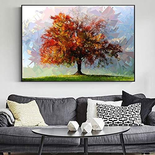 SADHAF Sala de estar pared árbol abstracto lienzo pintura paisaje moderno arte pop Decoración del hogar impresiones imagen hogar A6 70X100cm