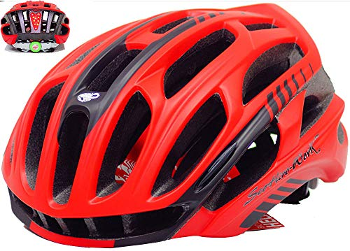 Jourlove Bike Helmet Lightweight Bicycle Helmets Adult Adjustable Cycle Helmet with LED Light for Road Bike Riding Safety Mountain Bicycle Mens Women 21-22 Inch/22-24 Inch,A1,M