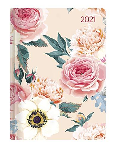 Alpha Edition - Agenda Giornaliera Style 2021, Formato Tascabile 10,7x15,2 cm, Rose, 352 Pagine