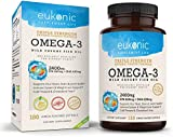 Omega-3 Wild Caught Fish Oil 2400 mg, Triple Strength EPA 860 mg + DHA 630 mg, 180 Softgels, Lemon Flavored, Burpless, Enteric Coated, for Heart and Joint Health, Mood Support, Leaner Body