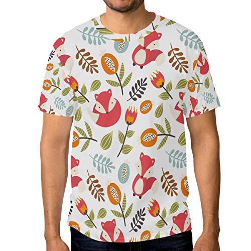 LUPINZ Herren T-Shirt mit süßem Fuchs-Motiv, kurzärmelig Gr. S, 1