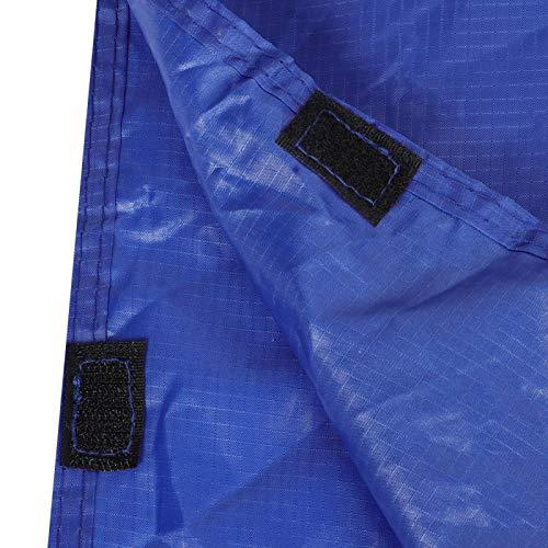 Kadimendium Impermeable de Ciclismo 3 en 1 multifunción para Ciclismo para Escalada como toldo Parasol como Almohadilla para Acampar(Blue)