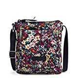 Vera Bradley Cotton Mini Hipster Crossbody Purse with RFID Protection, Itsy Ditsy