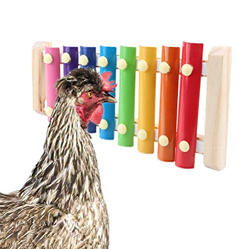 pranovo Chicken Toys Hen Pecking Toy Decorative Xylophone Toy with Different Sounds Bright Colors for Chickencoop Cages