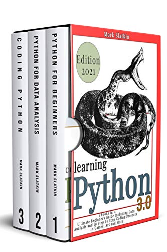 LEARNING PHYTON: 3 Books in 1: Ultimate Beginners guide Including Data Analysis and 50 Step-By-Step Coding Projects in Games, Art and More
