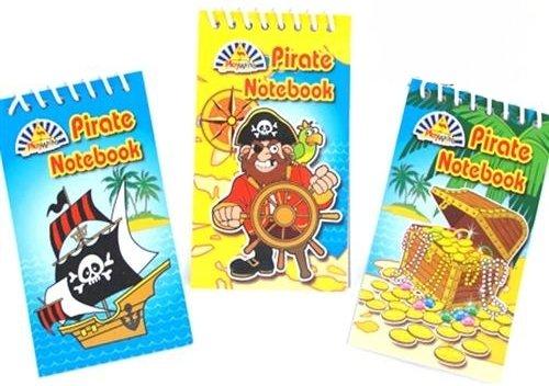PARTYRama Lot de 6 Pirate Mini Ordinateurs Portables - Super Cadeaux de fête à emporter - Différents modèles