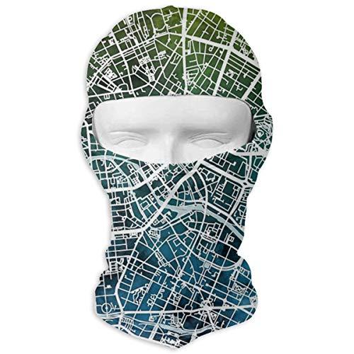 NOBRAND Full Face Mask Berlijn Duitsland City Kaart Hood Zonnebrandcrème Masker Dubbele Laag Koud Voor Mannen En Vrouwen
