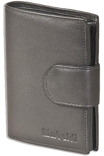 Rimbaldi - Portafogli da donna, formato verticale, in pelle bovina morbida e naturale, Nero  (Nero) - 4091609